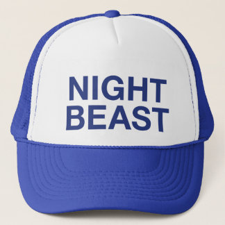 NIGHT BEAST fun slogan trucker hat