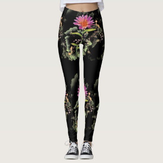 Night Blooming Daisy Custom Leggings