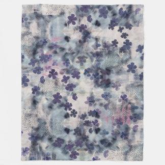 Night Blossom Floral Fleece Blanket