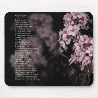Night Blossom poem Mousepads
