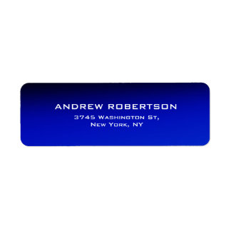 Night Blue Plain Elegant Contemporary Unique Return Address Label