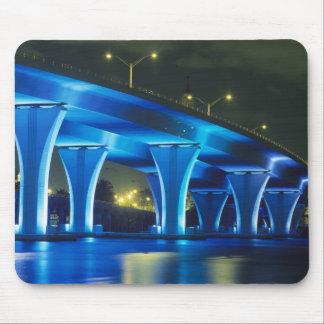 Night bridge at Port of Miami, Florida Mouse Mat