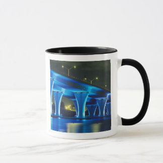 Night bridge at Port of Miami, Florida Mug