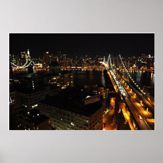 Night Bridges Poster