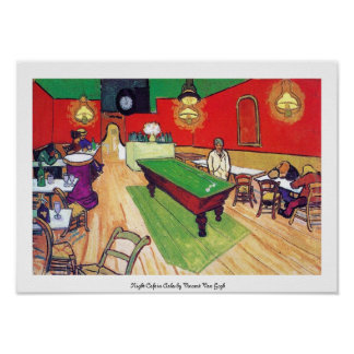 Night Cafe in Arles by Vincent Van Gogh Poster