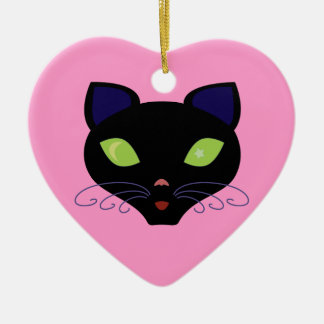 Night Cat Christmas Ornament