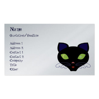 Night Cat Pack Of Standard Business Cards