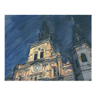 Night Cathedral,French Quarter Postcard