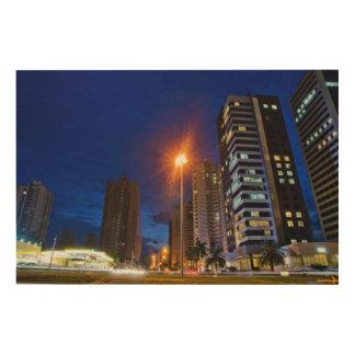 Night City Londrina Wood Print