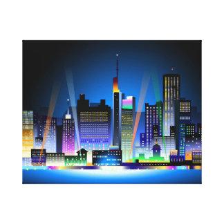 NIGHT CITYSCAPE CANVAS PRINTS