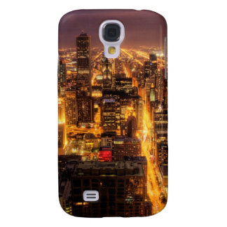 Night cityscape of Chicago Galaxy S4 Case
