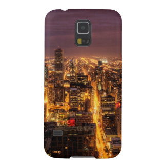 Night cityscape of Chicago Galaxy S5 Cover