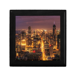 Night cityscape of Chicago Gift Box