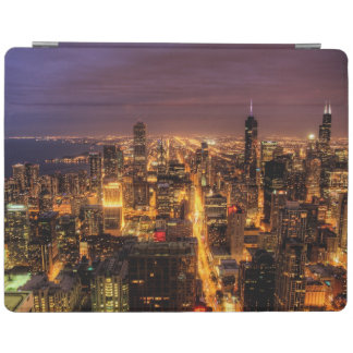 Night cityscape of Chicago iPad Cover