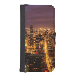 Night cityscape of Chicago iPhone SE/5/5s Wallet Case