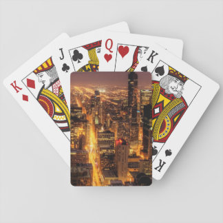 Night cityscape of Chicago Playing Cards