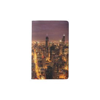 Night cityscape of Chicago Pocket Moleskine Notebook