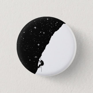 Night climbing 3 cm round badge