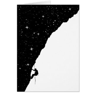 Night climbing greeting card