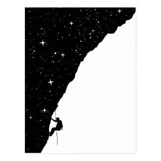 Night climbing postcard