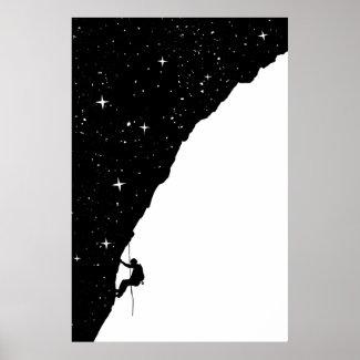night climbing poster