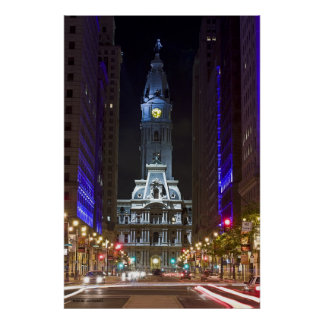 Night Color Broad St, Photo By: Joe Dantone Poster
