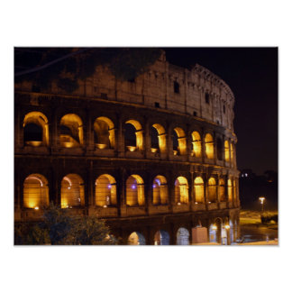 night Colosseum Poster