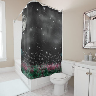 Night Critters Shower Curtain