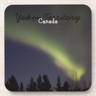 Night Dancing; Yukon Territory Souvenir Drink Coasters