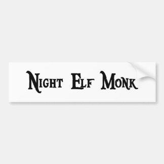 Night Elf Monk Sticker Bumper Sticker