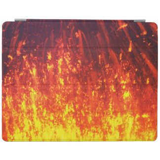Night eruption volcano: fireworks lava in crater iPad cover
