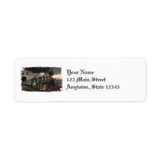 Night Express Train Return Address Labels