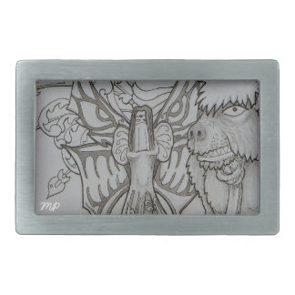 Night Fairy and Angry Bear Belt Buckles