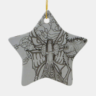 Night Fairy and Angry Bear Christmas Ornament