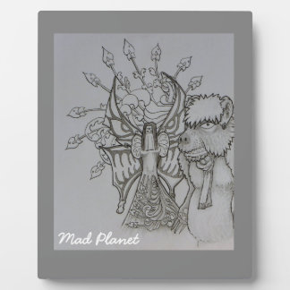 Night Fairy and Angry Bear Plaque
