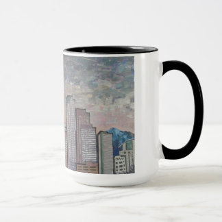 Night Falls on Denver Mug