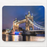 Night falls over Tower Bridge Mouse Pad