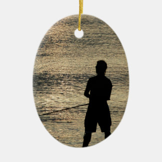 Night Fishing Christmas Ornament