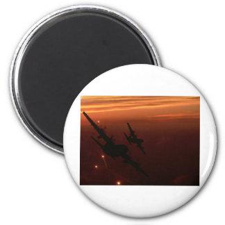 Night Flight 6 Cm Round Magnet