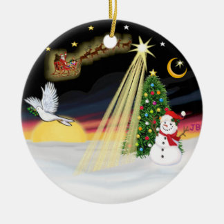 Night Flight - Add your own pet Christmas Ornament