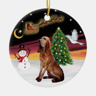Night Flight - Bloodhound Christmas Ornament