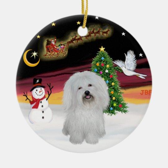 Night Flight - Coton de Tulear Christmas Ornament