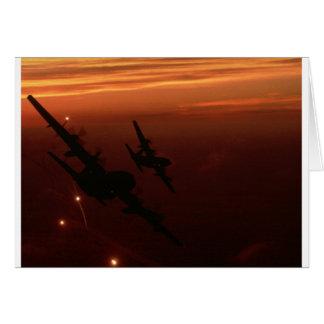 Night Flight Greeting Card