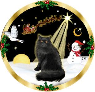 night flight gw black persian cat christmas ornament