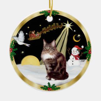 Night Flight (GW) - Maine Coon cat 9 Christmas Ornament