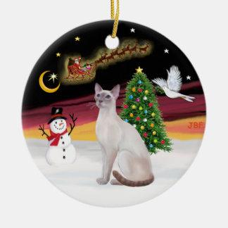 Night Flight - Lilac Point Siamese Christmas Ornament