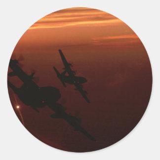 Night Flight Round Sticker