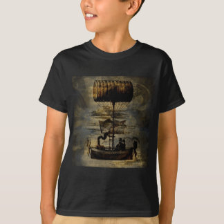 Night Flight Steampunk Flying Machine T-Shirt