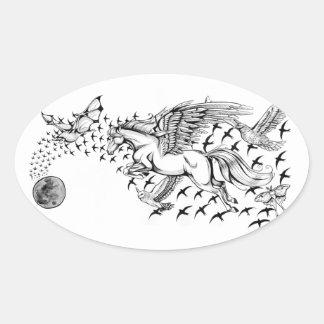Night Flight - Unicorn & Bird Sticker
