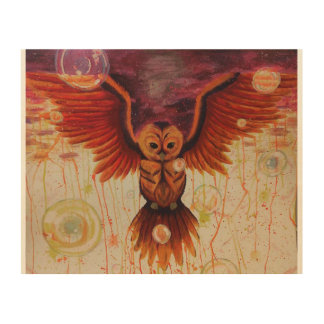 Night Flight Wood Wall Art